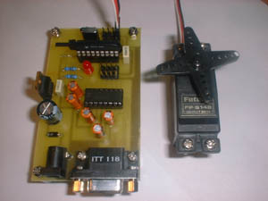 PIC Based Serial Port Servo Controller
