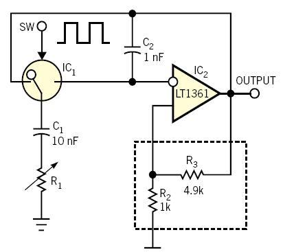 Grounded resistor tunes oscillator