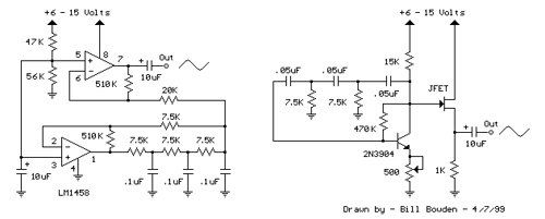 Low Frequency Sinewave Generator