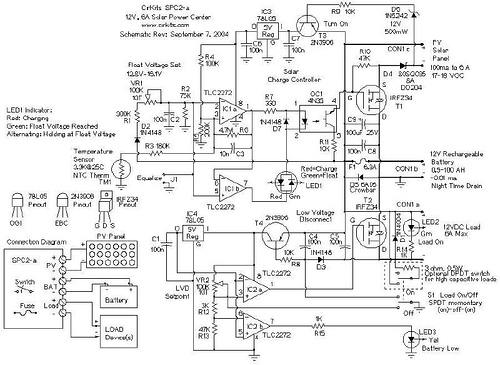 Solar Panel Charge Controller / Low Voltage Disconnect Circuit