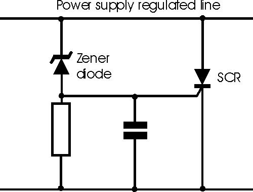 SCR Overvoltage Crowbar Circuit