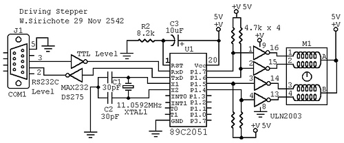 Stepper motor interface