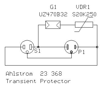 Mains surge suppressor circuit