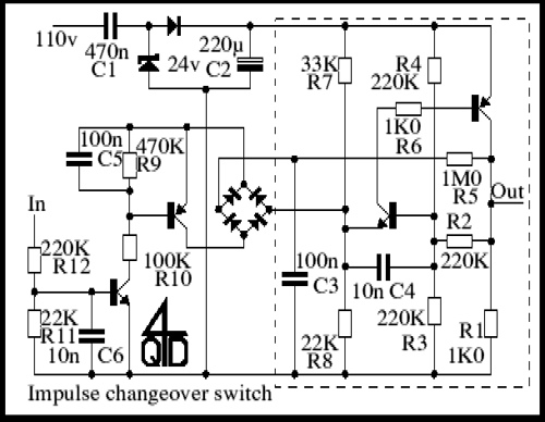 Impulse changeover switches