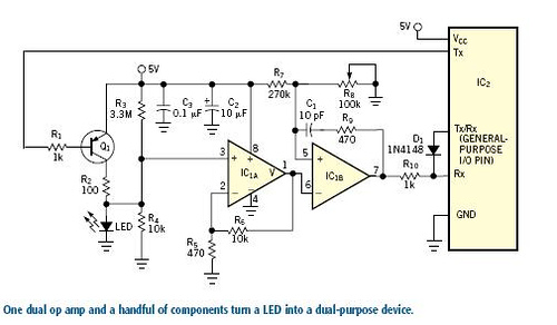 Use power line for baud-rate generation