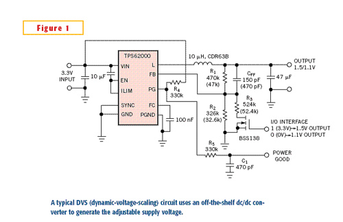 Dynamic voltage scaling conserves portable power