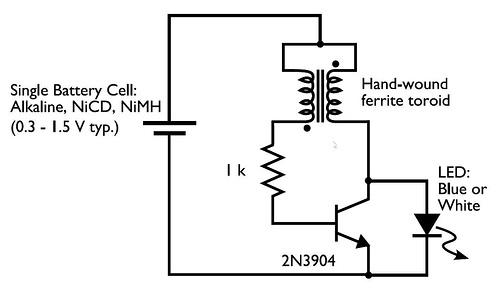 0.3-1.5V LED Flashlight