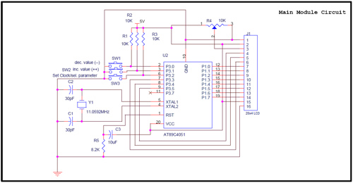AT89C4051 to work as a Real time clock