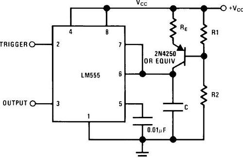 LM555 timer chip datasheet