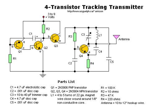 4 -Transistor Tracking Transmitter