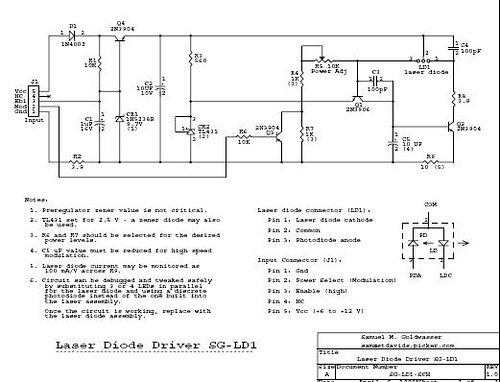 Laser diode driver with feedback