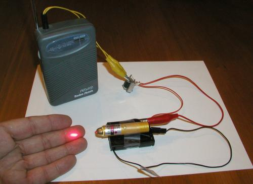 Transmit audio with a simple LASER pen