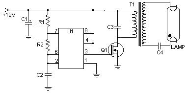 12VDC Fluorescent Lamp Inverter