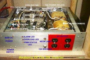 A 2kVA 12VDC to 120VAC inverter for power backup