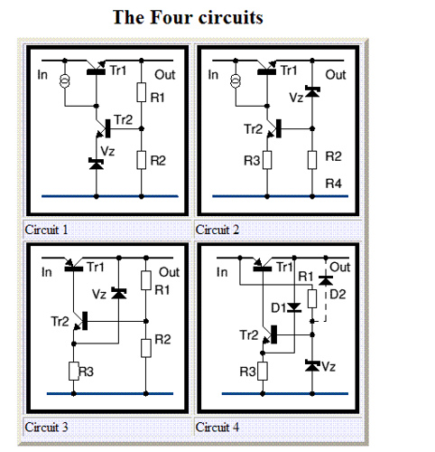 Two transistor regulator circuits.