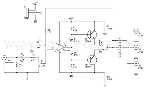 Video Distributor Amplifier