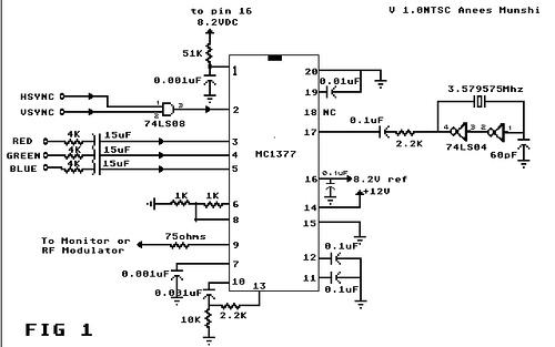 Atari RGB to Composite Video Converter