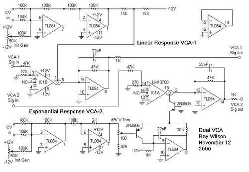 Dual Voltage Controlled Amplifier – I
