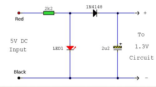 1.3 Volt Power Source