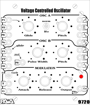 Dual Voltage Controlled Oscillator