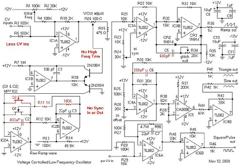 Voltage Controlled Low Frequency Oscillator