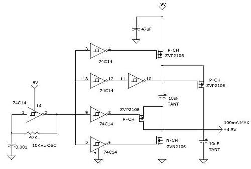 Charge Pump Voltage Quadrupler