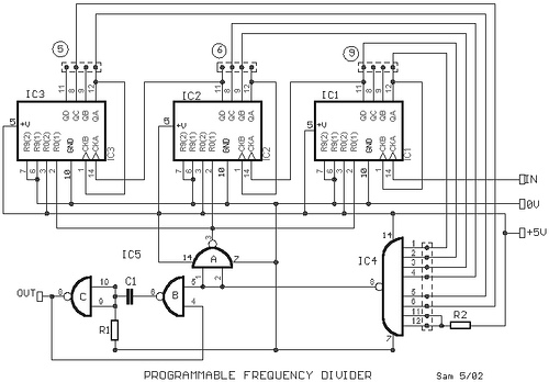 Programmable Frequency Divider with 7490
