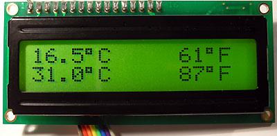 PIC Dual Temperature Meter