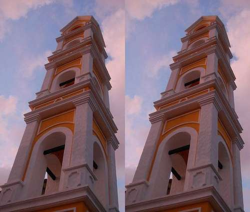 Optical Illusion Falling Buildings