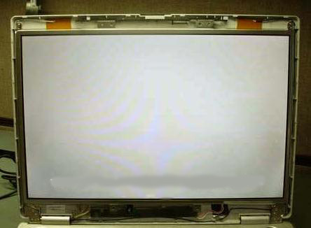 Laptop LCD screen turned completely white