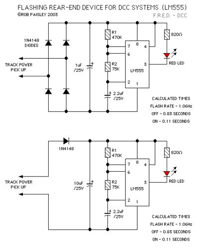 Flashing Rear-End Device For DCC Systems