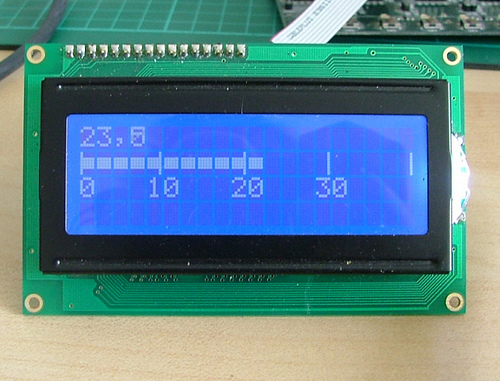 LCD Thermometer LM35
