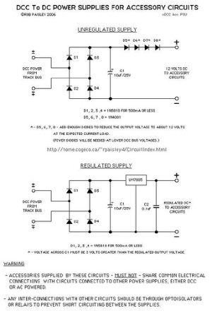 DCC To DC – Accessory Power Supplies
