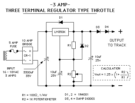 A Three Terminal Regulator Type Throttle