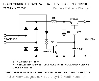 Train Mounted Camera Battery Charger