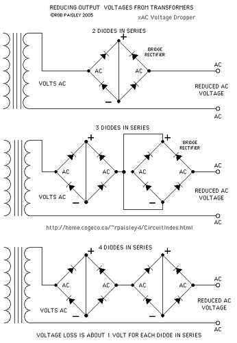 Transformer Secondary Voltage Reduction