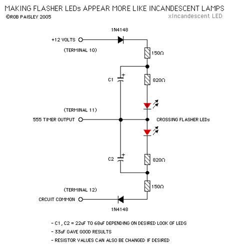 Incandescent LED Circuit