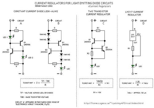 Current Regulators For Light Emitting Diodes