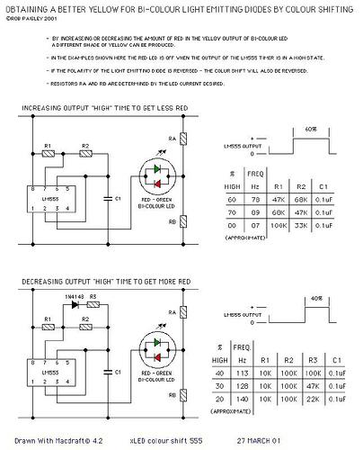 Colour Shifting For Bi-Colour LED's