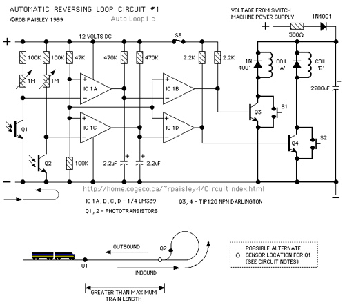 Twin Coil Automatic Reversing Loop Circuits