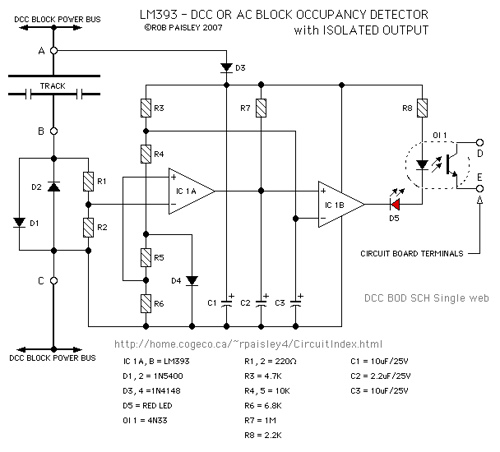 Block Occupancy Detector For DCC Or AC
