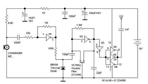 Coilless FM transmitter