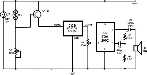 Smoke Detector Circuit – Fire Alarm