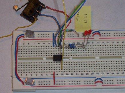 Switched flashing LED