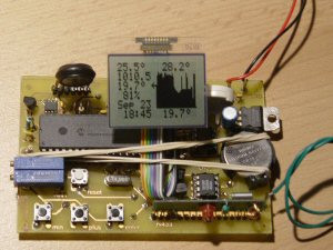 LCD Weather station using PIC 18F452