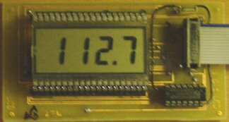 4 digit LCD display with controller ICM7211AMIPL