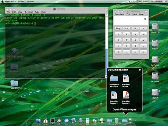HOWTO – Make your Linux desktop look like Leopard