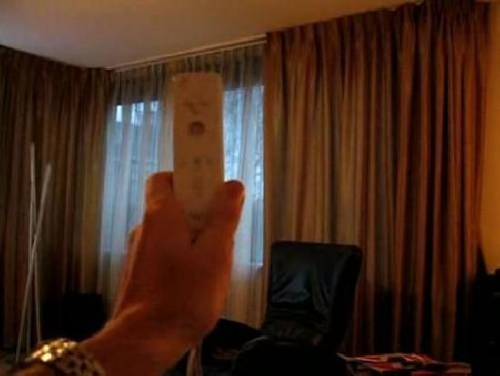 Wii Remote Window Curtain Control