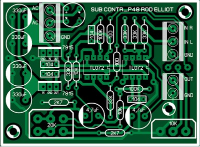 Rod Elliot (ESP) P48 Active Subwoofer Controller 6