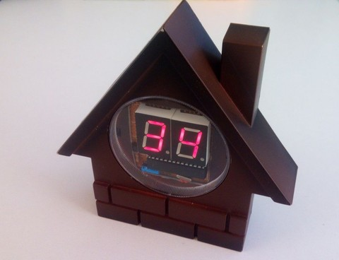Built a neat home thermometer with Arduino